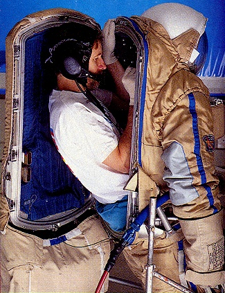 putting on a space suit - photo #30