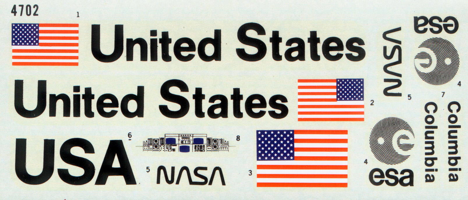 Space shuttle model decals pics about space for Space decals