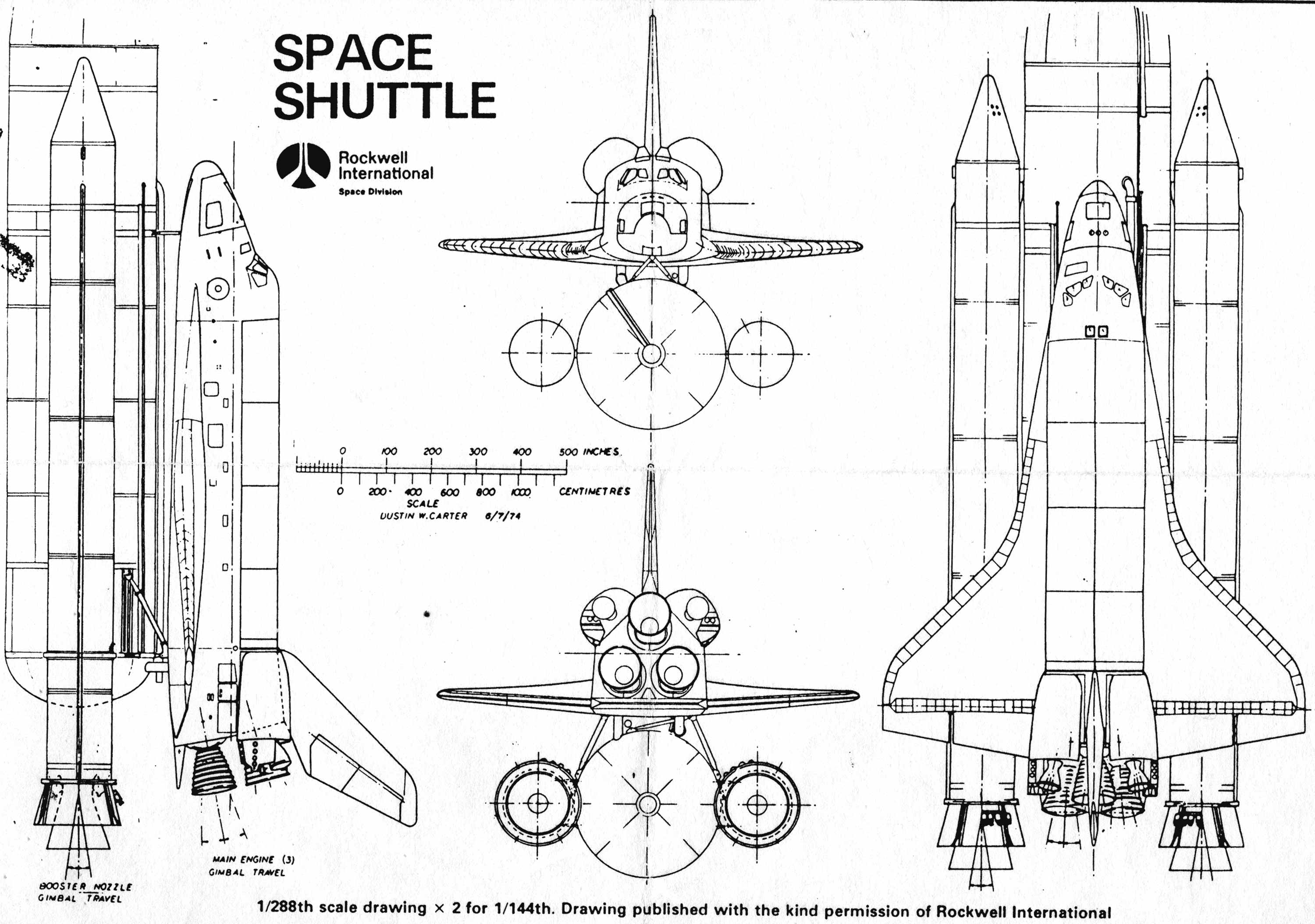 space rocket diagram