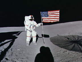 Shepard and flag