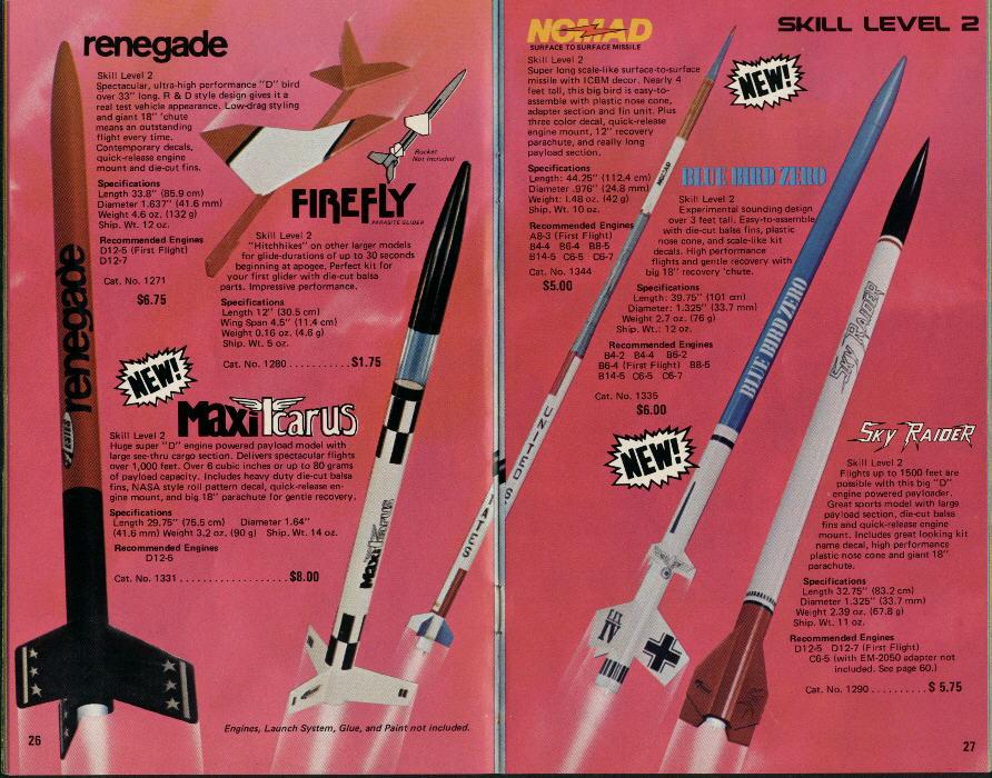 Ninfinger Productions: 1980 Estes Catalog